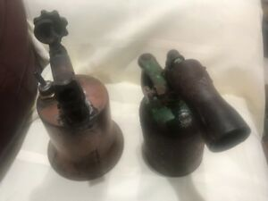 Vintage Torches 2 Hand Held Antique From A Machine Tool Company