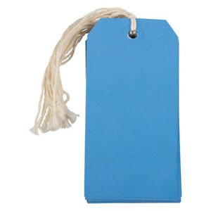 Jam Paper Gift Tags With String Medium 4 3 4 X 2 3 8 Blue 1000 carton