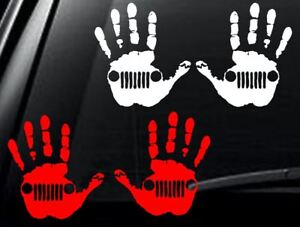 Jeep Wave Pair Of Decals Vinyl Car Window Sticker Any Size