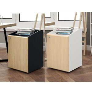 Devaise 2 drawer Mobile File Cabinet With Lock Letter Size office Furniture