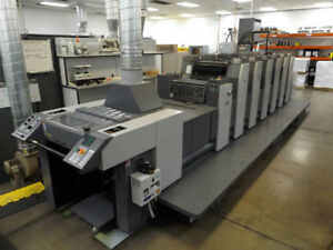 Ryobi Rmgt Printing Press 526gx h 6 color 20 Uv Coater Heidelberg Komori