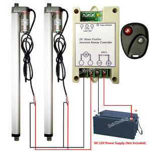 14mm s High Speed 2x 18 Linear Actuator W Remote Control Heavy Duty 12v 220lbs