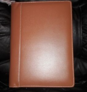 Levenger Ambi Flex Folio Junior Saddle Jr Leather Notebook Minor Flaw Srp 159