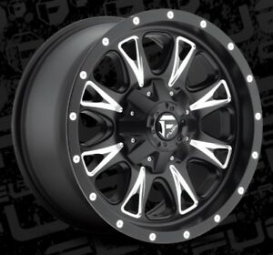 Fuel 18x9 Throttle D513 6x135 6x5 5 Et20 Black Milled Wheels Set Of 4
