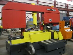 Amada Model Ha 700 27 6 X 31 5 10hp 3ph Auto Horizontal Band Saw New 1986