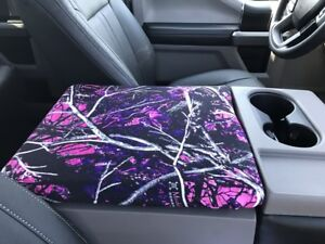 Fits Ford Trucks F150 2014 2019 Muddy Girl Center Console Lid Cover Usa Made F7m
