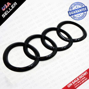 For A7 S7 Rs7 Gloss Black Back Trunk Logo Rings Badge Emblem Decoration Modified