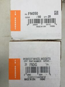 2 Boxes Perfect Fn050 Fn045 Wheel Weights Clip On Coated Lead Tire Weights