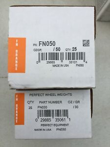 2 Boxes Perfect Fn050 Fn030 Wheel Weights Clip On Coated Lead Tire Weights