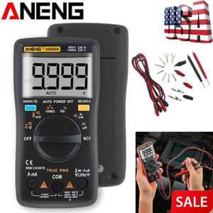 Aneng An8009 Automatic Lcd Digital Display Multimeter Ohm Ac dc Meters Voltage