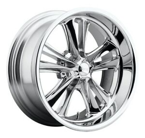 17x7 Foose Knuckle F097 5x4 75 Et1 Chrome Rims Set Of 4