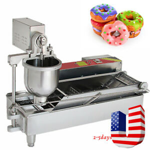 Commercial Automatic Doughnut Donut Machine Ball Maker Fryer W 3 Size Outlet Ups