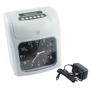 New Lcd Analogue Electronic Time Recorder Clock Employee Office Use usa sale