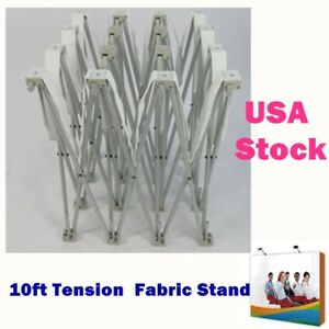 10ft Tension Fabric Pop Up Display Backdrop Stand Trade Show Booth Frame Only us
