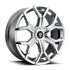 22x9 5 Dub S207 6x135 5 5 Et30 Chrome Rims New Set 4