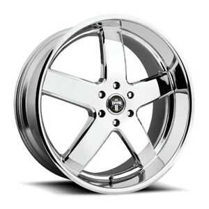 24x10 Dub Big Baller S222 6x5 5 Et30 Chrome Rims New Set Of 4