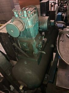 Quincy Air Compressor Horizontal With 5hp Wagner Motor