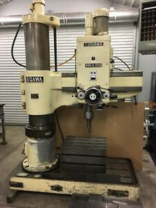 1988 1 2 Ogawa Radial Arm Drill With Table made Japan Drill Press very Clean