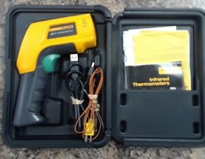 Fluke 568 Infrared And Contact Thermometer W Graphical Lcd Display