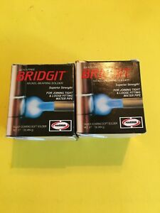 Harris Bridgit Lead Free Silver Bearing Soft Solder 1 8 Brgt61 new Lot Of 2
