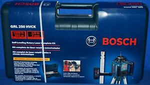 Bosch Grl 250 Hvck Self leveling Rotary Laser Kit 1000ft
