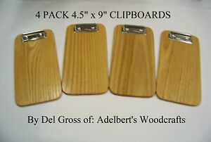 4 Small Red Oak Clipboards Memo Clipboard Check Presenter 4 Clipboards Usa