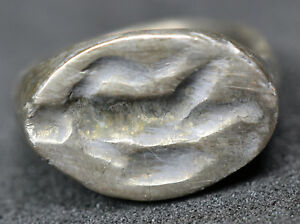 Stunning Roman Solid Silver Seal Ring