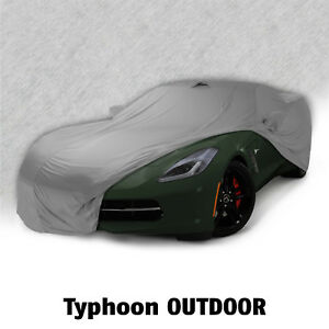 2014 2019 Corvette C7 Outdoor Typhoon All Weather Car Cover W Bag Gray