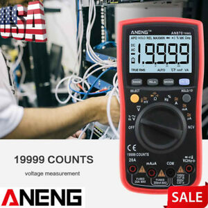 Aneng An870 19999 Counts True rms Auto Range Digital Multimeter Ac Dc Voltage