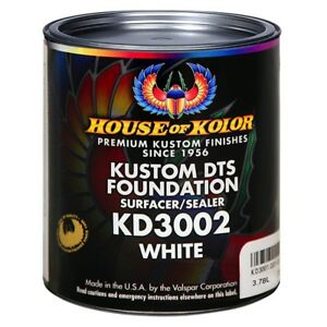 House Of Kolor Kd3002 G01 Kustom Dts Foundation Surfacer Sealer White Gallon