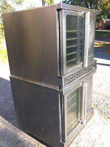 Double Stack Gas Convection Oven Imperial Dbl Glass Doors Working Perfectly