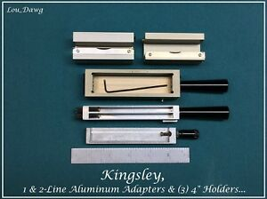 Kingsley Machine Aluminum Adapters 4 Holdrers Hot Foil Stamping Machine