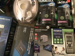 Huge Electronic Accessory And Handyman Home Lot All New In Original Packaging