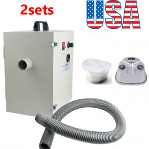 us 2set Dental Dentist Digital Dust Collector Vacuum Cleaner Lab Machine gift