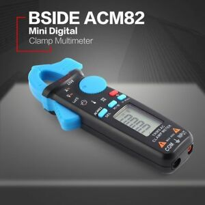 Acm82 Mini Digital Clamp Meter Multimeter True Rms Ac dc Volt Amp Ohm Tester Be