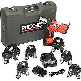 Ridgid 174 Rp 340 Battery Press Tool Kit W propress Jaws 1 2 2 43358 Lot