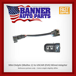 Fuel Injector Wired Adapter Mini Delphi Multec 2 To Uscar Ev6 Harness