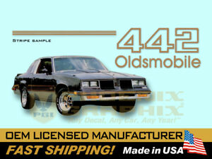 1985 1986 1987 Oldsmobile 442 Decals Stripes Kit