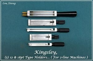 Kingsley Machine Five 12 18pt Type Holders Hot Foil Stamping Machine