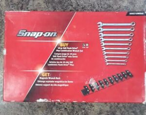 Snap On 10 Pc Sae Flank Drive Plus Combination Wrench Set Soex710wrak