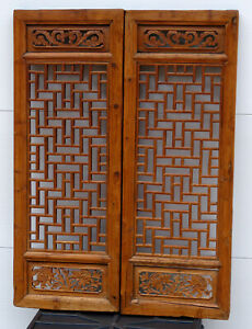 Antique Chinese Window Panels Shutters Screens