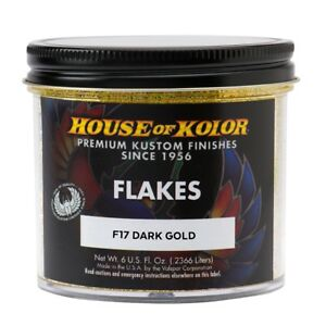 House Of Kolor F17 c01 Dark Gold Dry Flake Custom Paint Sparkle Effect 6 Oz