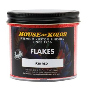 House Of Kolor F20 C01 Red Dry Flake Custom Paint Sparkle Effect 6 Oz
