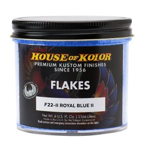 House Of Kolor F22ii c01 Royal Blue Ii Dry Flake Custom Paint Sparkle Effect