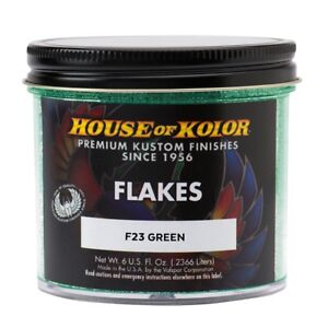 House Of Kolor F23 C01 Green Dry Flake Custom Paint Sparkle Effect 6 Oz