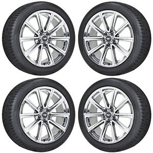 19 Ford Mustang Gt Pvd Chrome Wheels Rims Tires Factory Oem Set 10031