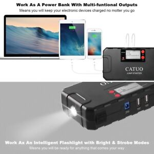 13600mah Catuo Auto Car Jump Starter Battery Booster With Usb Power Bank