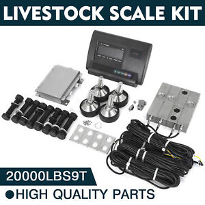 20000lbs Livestock Scale Kit For Animals Waterproof Animal Weighing Alloy Steel
