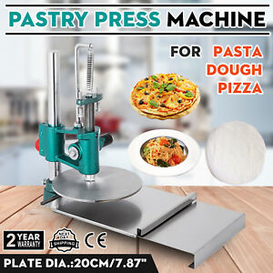 New 7 8inch Pizza Dough Pastry Manual Press Machine Roller Sheeter Pasta Maker