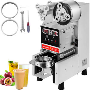 Electric 420w Cup Sealer Sealing Machine Coffee Boba Bubble Tea 500 650 Cups hr